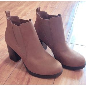 Express Suede Ankle Booties